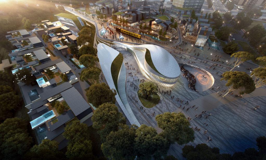 luzhou urban cultural hub grand theatre